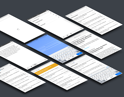 Reader App—UX/UI, design