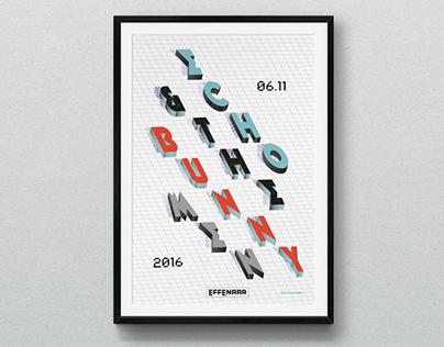 Echo & the Bunnymen - Poster design
