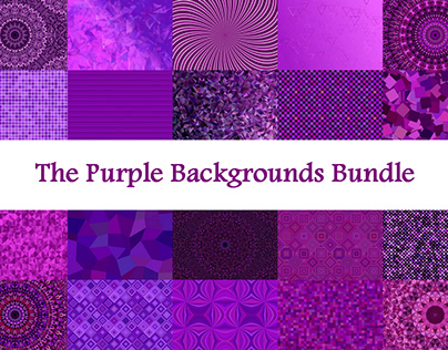 The Purple Backgrounds Bundle
