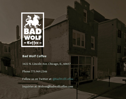 Bad Wolf Coffee Identity and Process