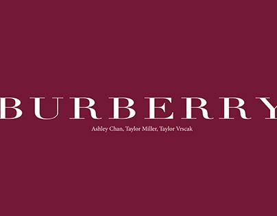 Retail Buying: Burberry 6 Month Buying Plan