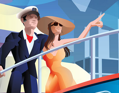 Couple On A Yacht