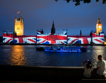 Projection mapping houses of parliament