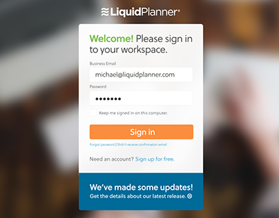 LiquidPlanner App Sign-In and Email Notifications