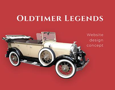 Website design concept for Old Cars Festival.