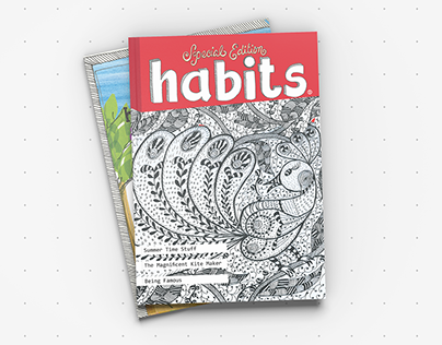 Habits Magazine Spread Designs
