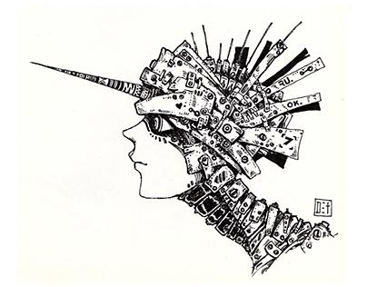 Sketch #04 : Cyberpunk character
