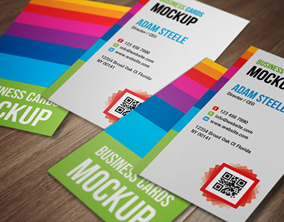 Download Free Business Card Mock-Up