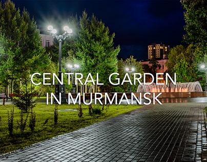 Central garden in Murmansk
