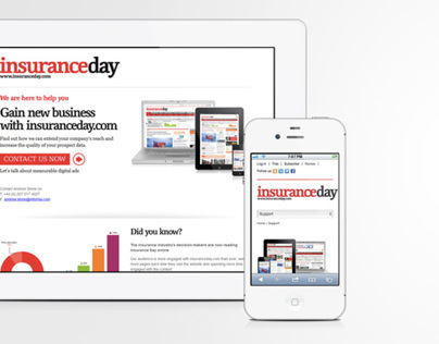 New insuranceday.com Landing Page