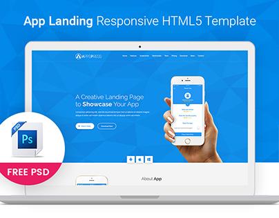 App Landing HTML5 Template (Free PSD)