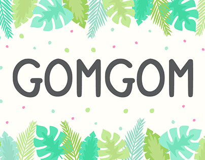(FREE DOWNLOAD) Gomgom | Handwriting Font