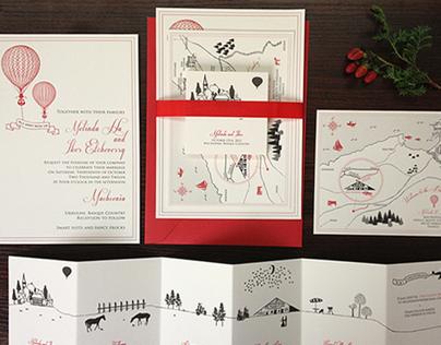 Rustic Basque Country Wedding Invitation