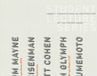 Posters for Architecture lecture series