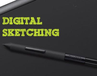 Digital sketching.