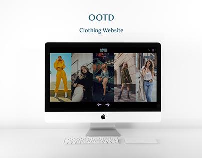 OOTD Clothing Website Design