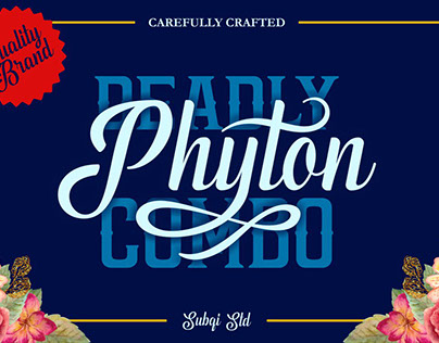 PHYTON COMBINATION - FREE CRAFTED FONT DUO