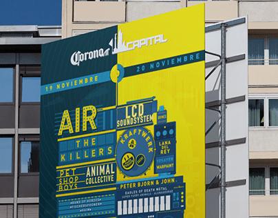 Corona Capital Poster design Pitch (2016)