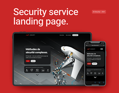 Landing page UI - S3 Security France