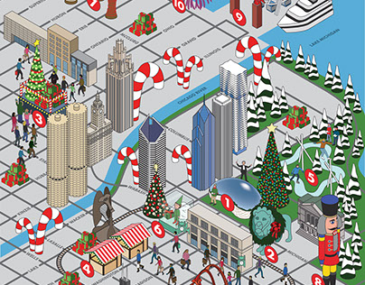 Choose Chicago Holiday Map