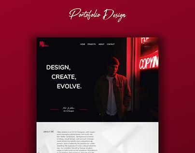 Portofolio Web Design Sample