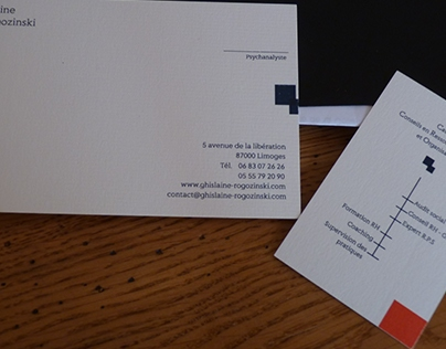 Business card : modern graphics and authentic font.