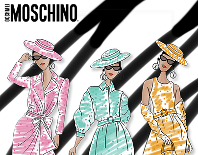 Fashion Illustration Ad: Moschino