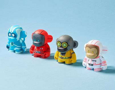 MonkeyTag Mascot Resin and Vinyl Toys