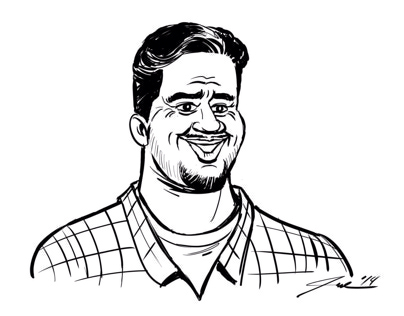 Miguel caricature