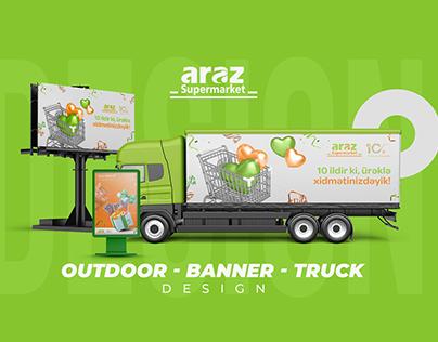 Outdoor-Banner-Truck Design for Araz Market