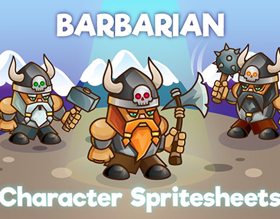 2D Game Barbarian Character