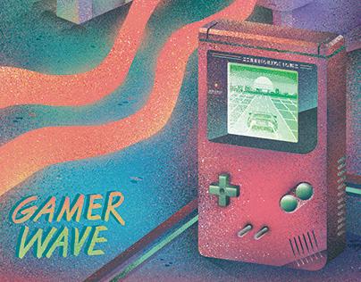 「电玩波」插畫, 設計 | Gamer Wave, Vaporwave