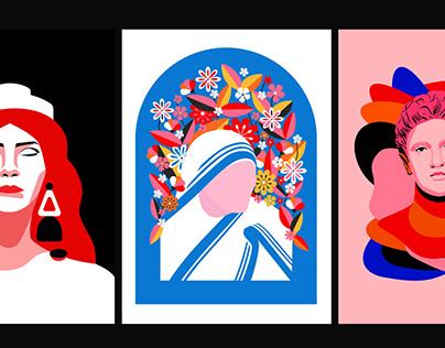 Dear Albania - Set of illustrations