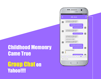 Yahoo messenger on android concept UI/UX