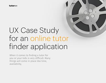 UX Case Study - Online Tutor App