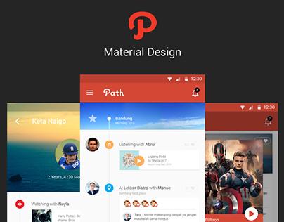 Path Material Design
