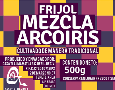 Etiquetas packing Frijoles Baluarte Slowfood