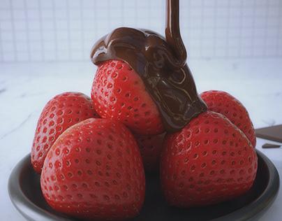 Strawberry Chocolate Pour