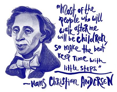 """""""Little Steps"""" / Hans Christian Andersen"""