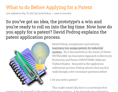 What to do Before Applying for a Patent
