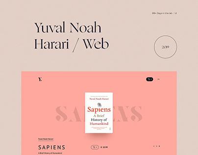 Yuval Noah Harari / Web concept 99+ Days in the lab