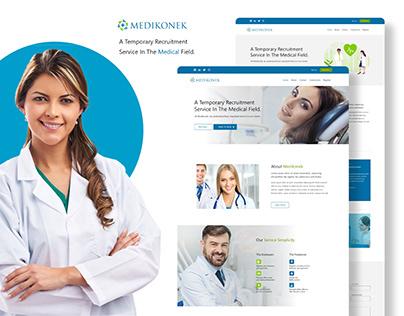 Medikonek Website UI Design