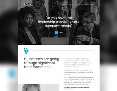 Web Design // Management Training Consultant Website