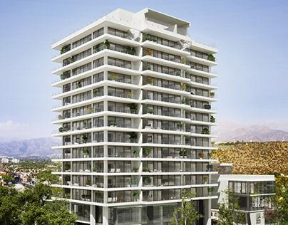 Edificio Angular - Inmobiliaria CBS - by 3dmedia.cl