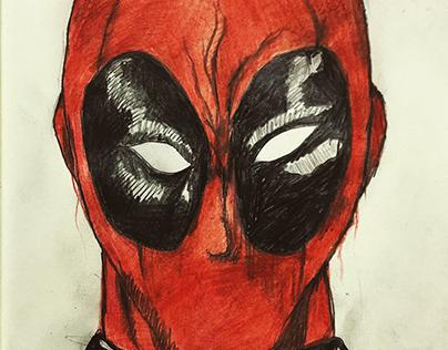 Deadpool Pencil colour