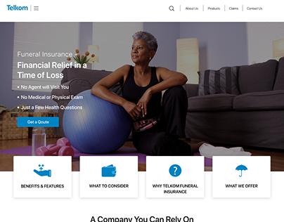 Funeral Insurance User Interface Design