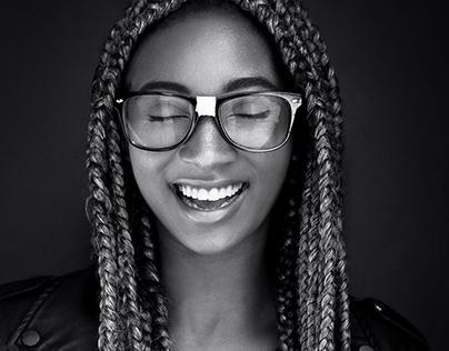 black & white portrait series