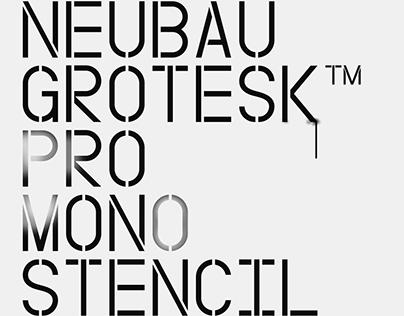 NB Grotesk™ Pro Mono Stencil, E16 (2011/16)