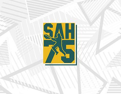 SAH75 Cricket Championship Game Logo