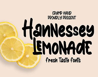 Hannessy Lemonade: Fresh Tasty Fonts!
